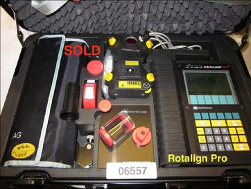 SOLD -  Refurbished Rotalign Pro s/n 06557 - Call 704-233-9222