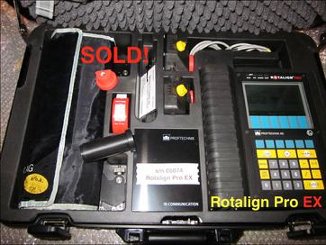 SOLD - Refurbished Rotalign Pro EX s/n 05074 EX - Call 704-233-9222